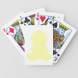 PASTEL YELLOW BABY GRAPHIC SILHOUETTE PREGNANCY EX BICYCLE PLAYING CARDS