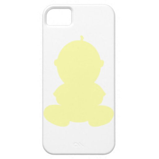 PASTEL YELLOW BABY GRAPHIC SILHOUETTE PREGNANCY EX iPhone 5/5S COVERS