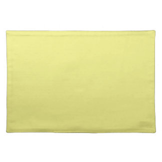 Pastel Yellow Background on a Placemat Cloth Placemat