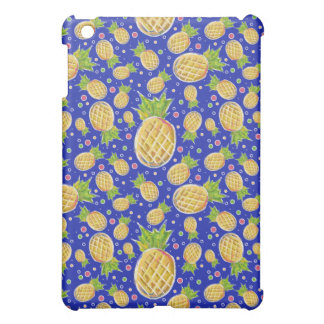 Pastel Yellow Blue Pineapple Pattern iPad Mini Covers