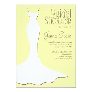 Pastel Yellow Bridal Shower Elegant Vintage Card