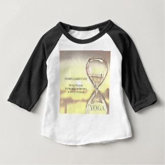Pastel Yellow Calming Yoga Hourglass Gratitude Baby T-Shirt