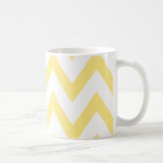 Pastel Yellow Chevron Coffee Mug