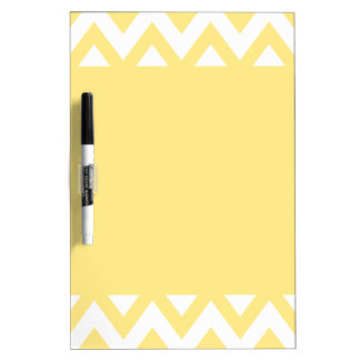 Pastel Yellow Chevron Dry Erase Board