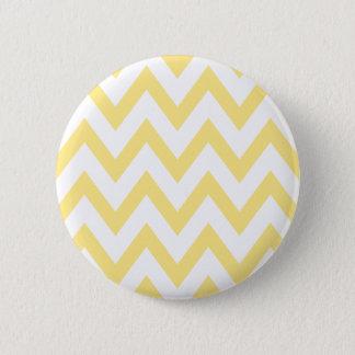 Pastel Yellow Chevron Pinback Button