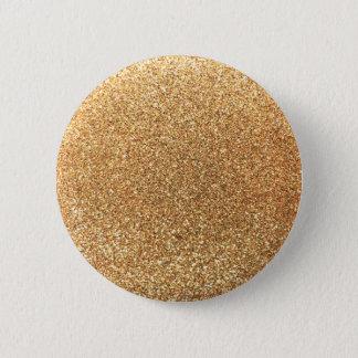 Pastel yellow glitter pinback button