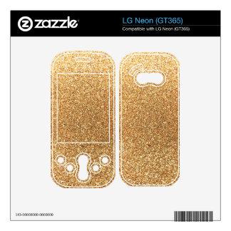 Pastel yellow glitter skin for LG neon