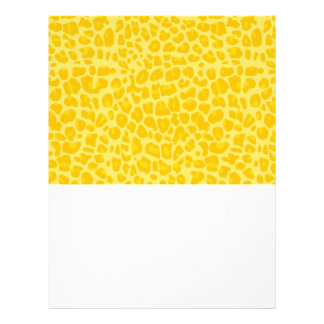 Pastel yellow leopard print pattern full color flyer