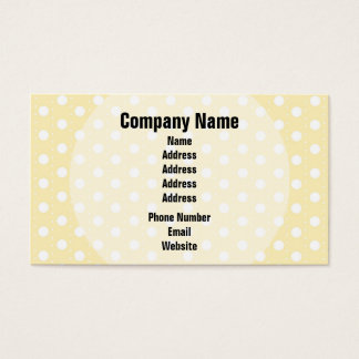 Pastel Yellow Polka Dot Business Card