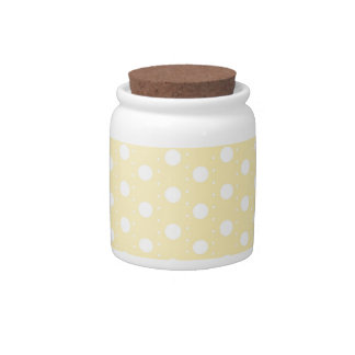 Pastel Yellow Polka Dot Candy Dishes