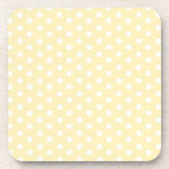 Pastel Yellow Polka Dot Coaster