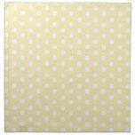 Pastel Yellow Polka Dot Printed Napkin