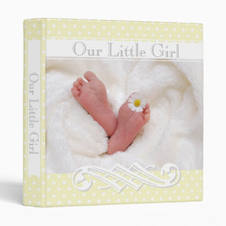 Pastel Yellow Polka-Dots•Babies Feet•Custom• Binder