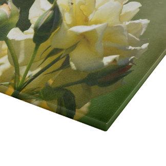 Pastel Yellow Rose Bush Cutting Boards