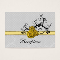 pastel yellow roses wedding Reception Cards