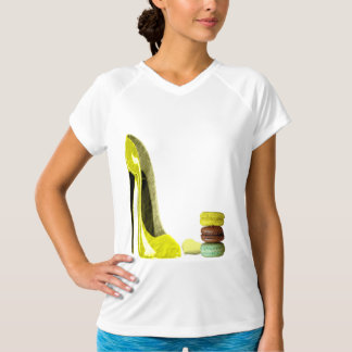 Pastel Yellow Stiletto and French Macaroons Art T-shirt