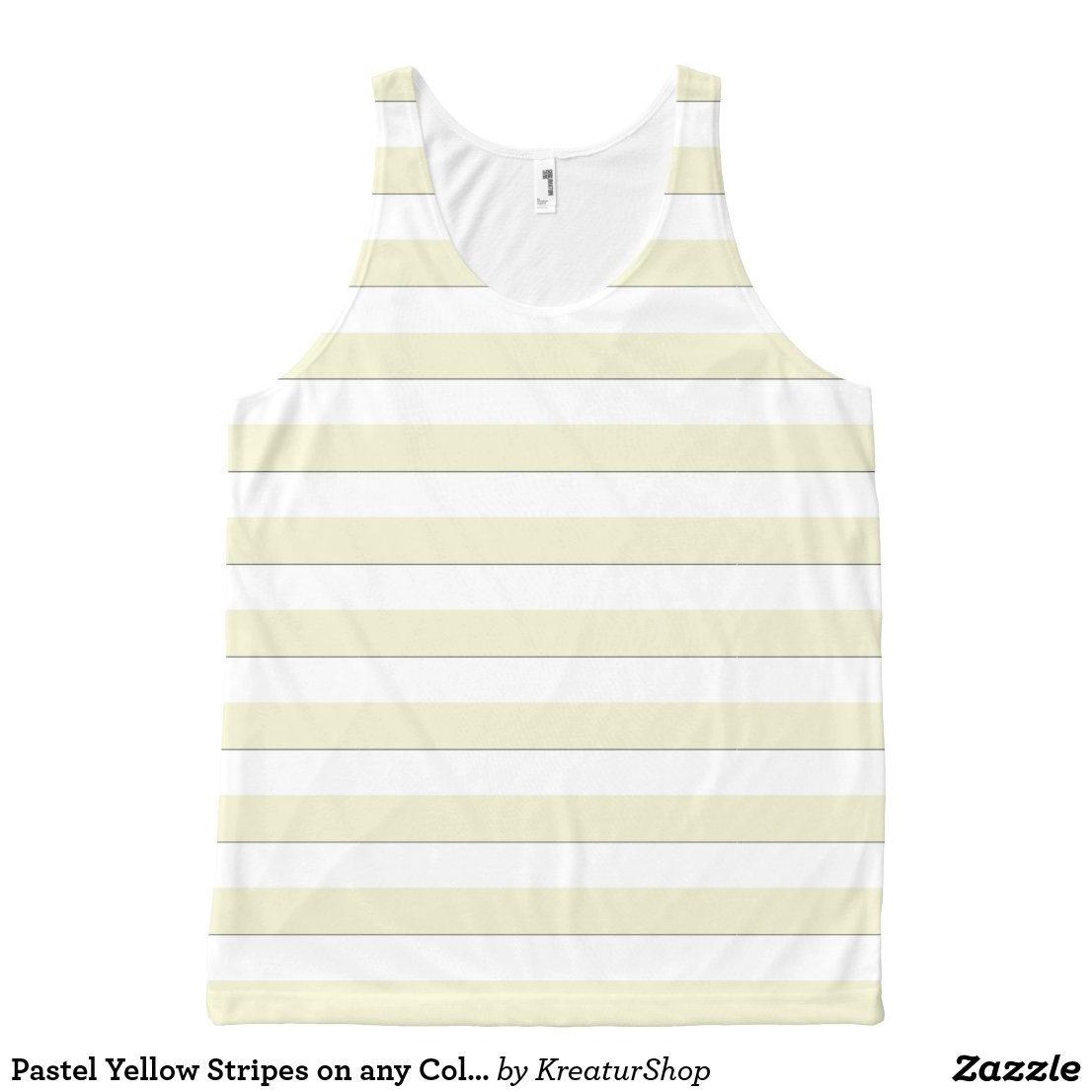 Pastel Yellow Stripes on any Color