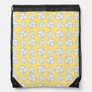 Pastel Yellow volleyball pattern Cinch Bags