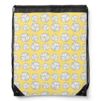 Pastel Yellow volleyball pattern Drawstring Bag
