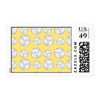 Pastel Yellow volleyball pattern Postage
