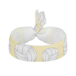 Pastel Yellow volleyball pattern Elastic Hair Ties