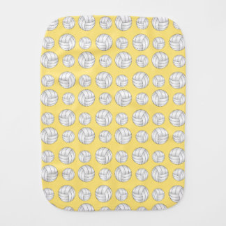 Pastel Yellow volleyball pattern Baby Burp Cloths