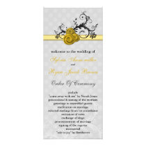 pastel  yellow Wedding program