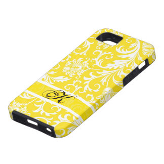 Pastel Yellow & White Floral Damasks Customized iPhone 5 Case