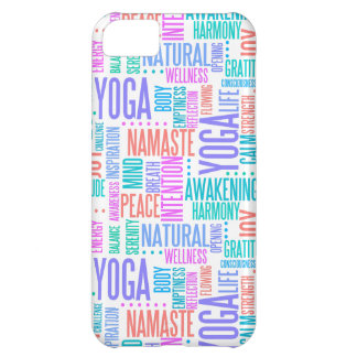 Pastel Yoga Word Cloud Elegant Pattern Cover For iPhone 5C