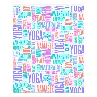 Pastel Yoga Word Cloud Elegant Pattern Flyer