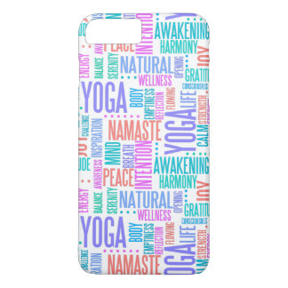 Pastel Yoga Word Cloud Elegant Pattern iPhone 8 Plus/7 Plus Case