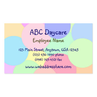 PastelBubbles Double-Sided Standard Business Cards (Pack Of 100)