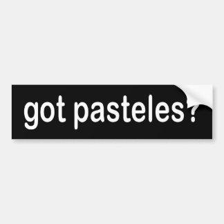 ¿pasteles conseguidos? etiqueta de parachoque