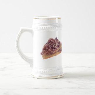 Pasteles daneses del postre tazas de café