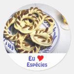 Pasteles de Azores - Espécies Etiquetas Redondas