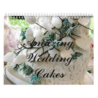 Pasteles de bodas asombrosos calendarios de pared