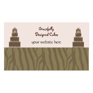 Pasteles de bodas del diseñador tarjetas de visita