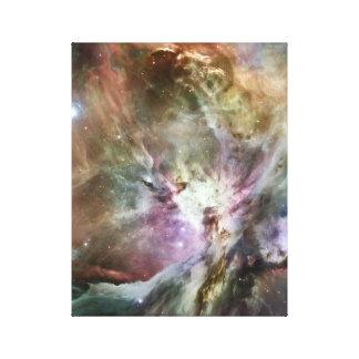 Pasteles de la nebulosa de Orión Lona Envuelta Para Galerias