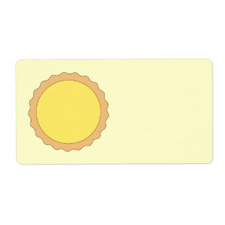 Pasteles de la tarta del limón. Amarillo soleado Etiqueta De Envío