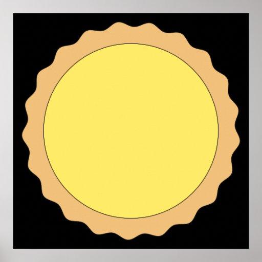 Pasteles de la tarta del limón. Amarillo soleado Póster