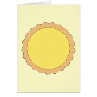 Pasteles de la tarta del limón. Amarillo soleado Tarjeta De Felicitación
