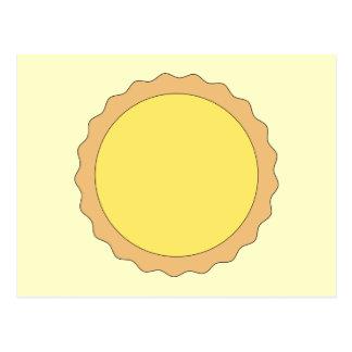 Pasteles de la tarta del limón. Amarillo soleado Tarjetas Postales