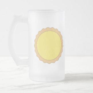 Pasteles de la tarta del limón. Amarillo soleado Tazas