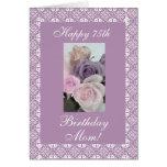 Pasteles de los rosas del cumpleaños de la madre tarjeta de felicitación