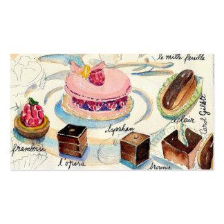 Pasteles de París Tarjeta De Visita