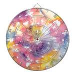 Pasteles del arco iris tabla dardos