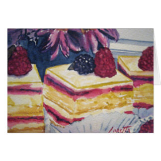 Pasteles del postre tarjeta de felicitación