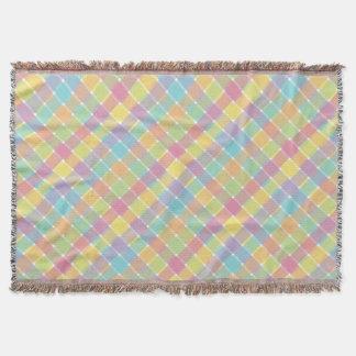 Pasteles diagonales coloreados salvajes de la tela manta