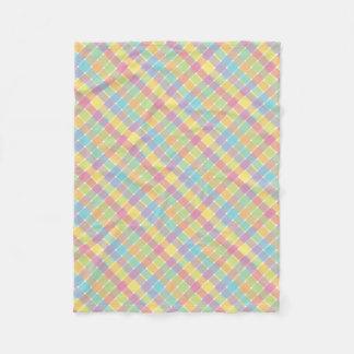 Pasteles diagonales coloreados salvajes de la tela manta de forro polar
