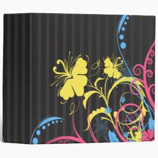 pasteles en rayas grises y floral-01 abstracto